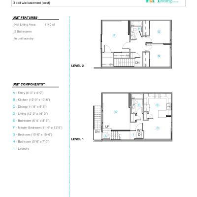 425 Price Street., 434 Irwin Street Anchorage, 99508, 3 Bedroom Bedrooms, 2 Bathroom Bathrooms,Townhome,For Rent,Price Street ,1079